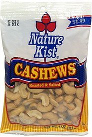 cashews roasted & salted Nature Kist Nutrition info