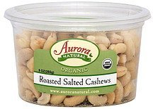 cashews roasted, salted Aurora Natural Nutrition info