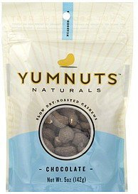 cashews slow dry-roasted, chocolate Yumnuts Nutrition info