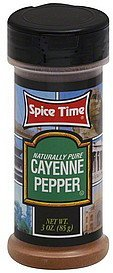 cayenne pepper Spice Time Nutrition info