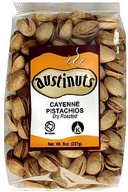 cayenne pistachios dry roasted AustiNuts Nutrition info