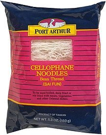 cellophane noodles bean thread Port Arthur Nutrition info