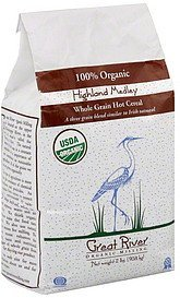 cereal 100% organic, whole grain hot Great River Nutrition info