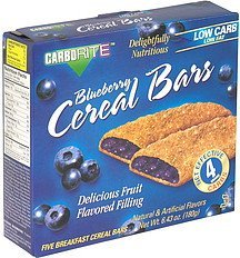 cereal bars blueberry CarboRite Nutrition info