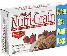 cereal bars with wheat, whole-grain oats and fruit, strawberry Nutri-Grain Nutrition info