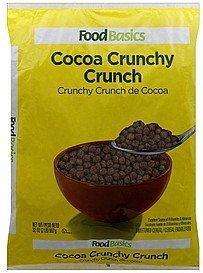 cereal cocoa crunchy crunch Food Basics Nutrition info