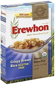 cereal crispy brown rice, gluten free Erewhon Nutrition info