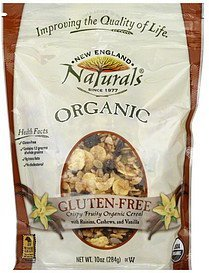 cereal crispy fruity organic New England Naturals Nutrition info