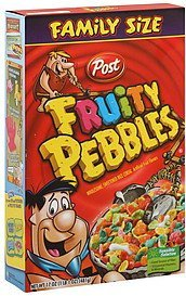 cereal family size Fruity Pebbles Nutrition info