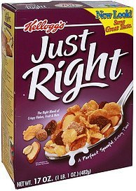 cereal fruit and nut Just Right Nutrition info