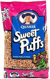 cereal golden puffs of wheat Sweet Puffs Nutrition info