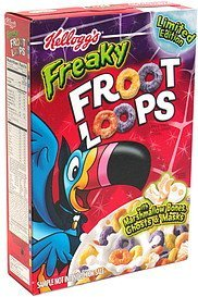 cereal limited edition Freaky Fruit Loops Nutrition info