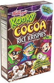 cereal limited edition Kooky Cocoa Rice Krispies Nutrition info