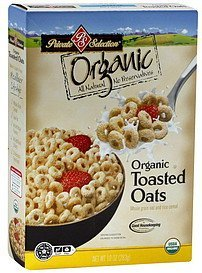 cereal oat and rice, whole grain Toasted Oats Nutrition info