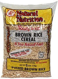 cereal puffed brown rice Natural Nutrition Nutrition info