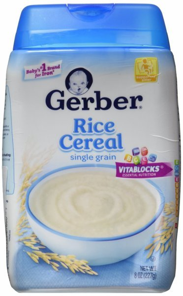 cereal rice Gerber Nutrition info