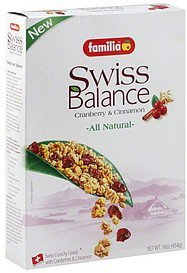cereal swiss balance Familia Nutrition info