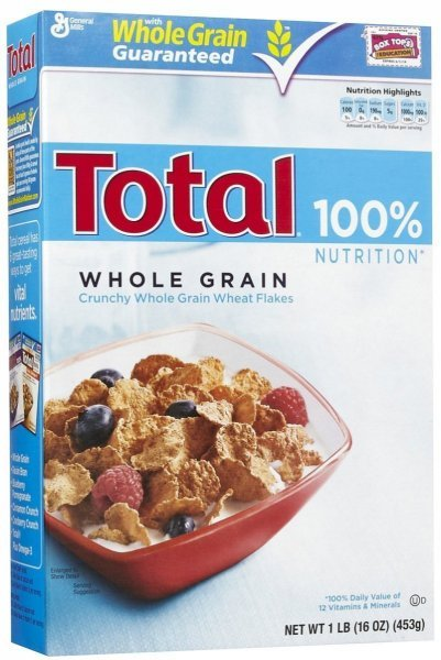 cereal whole grain Total Nutrition info