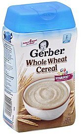 cereal whole wheat Gerber Nutrition info
