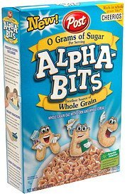 cereal Alpha-Bits Nutrition info
