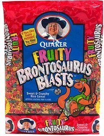 cereal Fruity Brontosaurus Blasts Nutrition info
