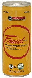 chai drink creamy organic Froid Nutrition info