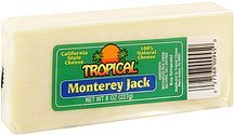 cheese 100% natural, monterey jack Tropical Nutrition info