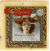 cheese abergele with cranberries & oranges Golden Age Cheeses Nutrition info