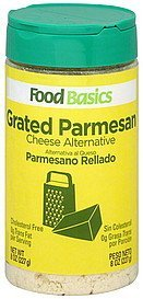 cheese alternative grated parmesan Food Basics Nutrition info