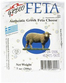 cheese authentic greek feta Greco Nutrition info