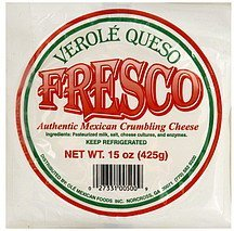 cheese authentic mexican crumbling, fresco Verole Queso Nutrition info