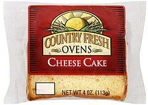 cheese cake Country Fresh Ovens Nutrition info