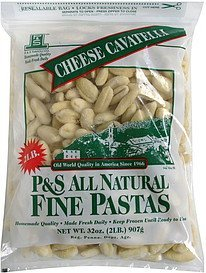 cheese cavatelli P&S Ravioli Co. Nutrition info