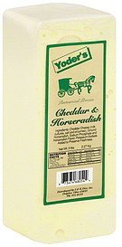 cheese cheddar & horseradish Yoder's Nutrition info