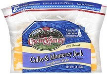 cheese colby & monterey jack longhorn-style Cache Valley Nutrition info
