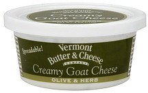 cheese creamy goat, olive & herb Vermont Butter & Cheese Nutrition info