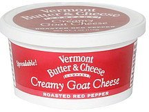 cheese creamy goat, roasted red pepper Vermont Butter & Cheese Nutrition info