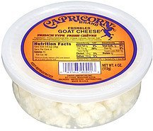 cheese crumbled goat Capricorn Nutrition info