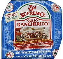 cheese crumbles farmers, mexican style Supremo Nutrition info