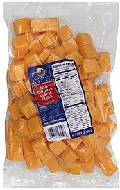 cheese cubes mild cheddar Great Lakes Cheese Nutrition info