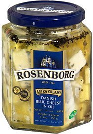 cheese danish blue in oil, extra creamy Rosenborg Nutrition info