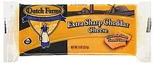 cheese extra sharp cheddar DUTCH FARMS Nutrition info