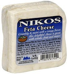 cheese feta Nikos Nutrition info