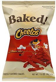 cheese flavored snacks flamin' hot Cheetos Nutrition info