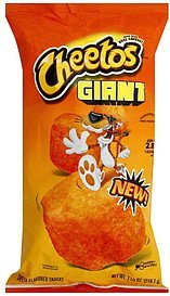 cheese flavored snacks giant Cheetos Nutrition info