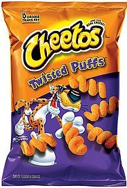 cheese flavored snacks twisted puffs Cheetos Nutrition info