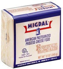 cheese food american Migdal Nutrition info