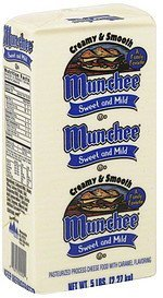 cheese food pasteurized process, sweet and mild Mun-Chee Nutrition info