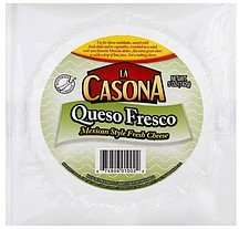 cheese fresh, mexican style La Casona Nutrition info