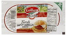 cheese fresh mozzarella Galbani Nutrition info